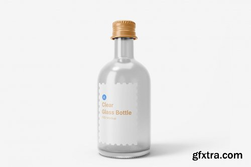 Clear Glass Drink Bottle With Aluminium Screw Cap