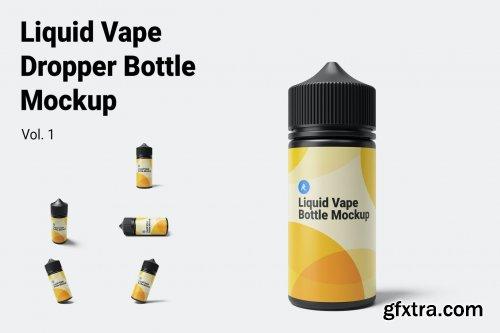 Liquid Vape Dropper Bottle Mockup Vol.1