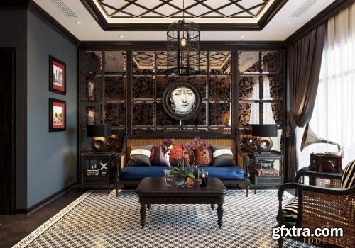 Interior Living Room by Dinh Nam