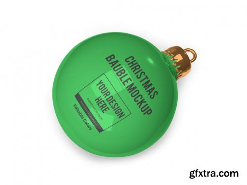 Christmas Bauble Ball Mockup Template Set