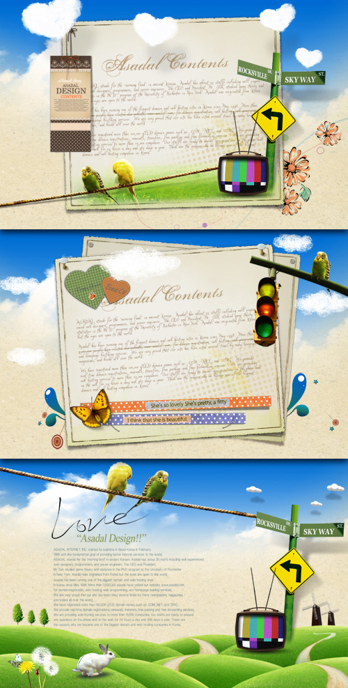 Summer background PSD