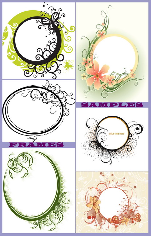 flower borders and frames. Vectors » Frames amp; Borders