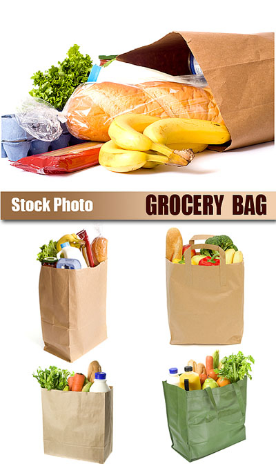 Stock Photo - Grocery bag