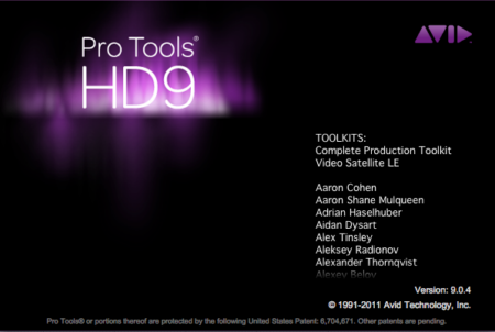 Avid Pro Tools HD version 9.0.4 - 2011