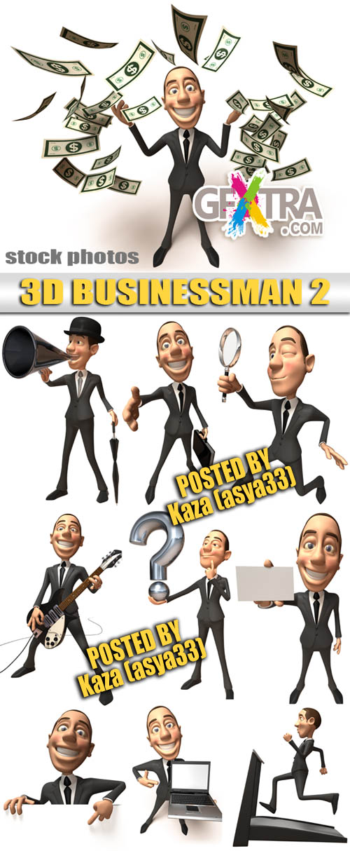 3D businessman 2