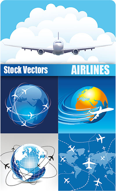 Stock Vectors - Airlines