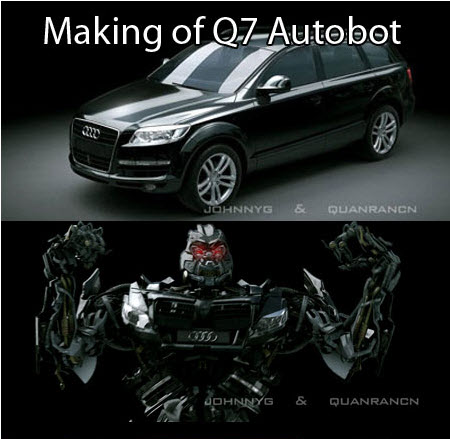 Making of Q7 Autobot Video Tutorials [Max-Photoshop] 6.79GB