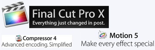 Final Cut Pro X + Motion 5 + Compressor 4 + FCP Contents (Full)