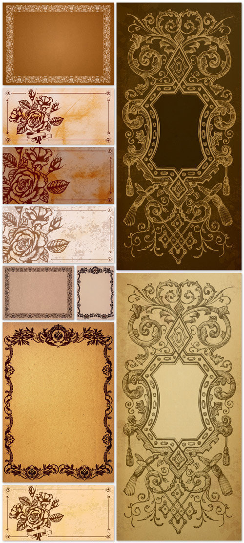 Vintage Paper Backgrounds - Vintage, paper, pattern, texture, background