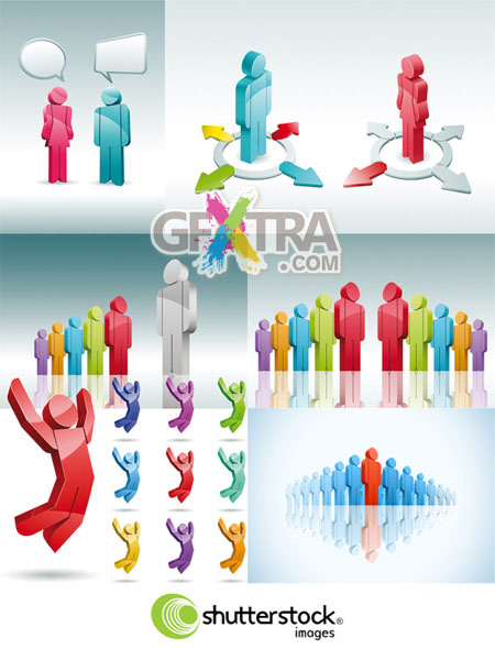 3D People in Vector