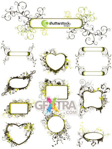 Shutterstock Abstract Floral Frame