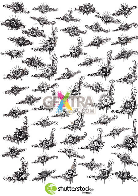 Shutterstock Abstract Floral Grunge