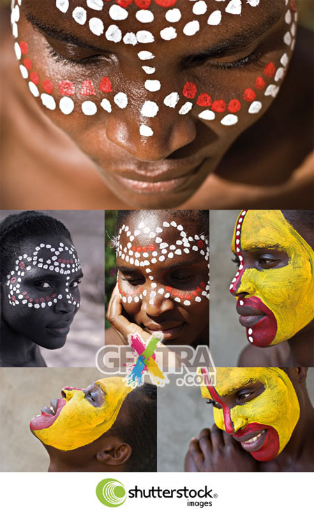 Shutterstock African Face Paintings HQ