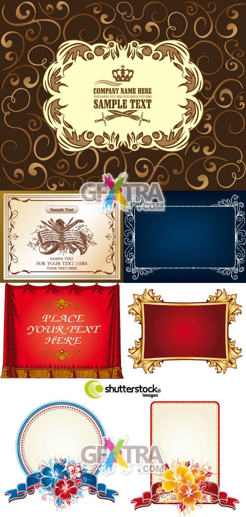 Shutterstock Art Deco Frames and Elements in Vector