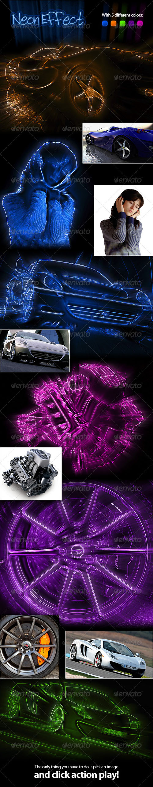GraphicRiver - Neon Effect Photoshop Action