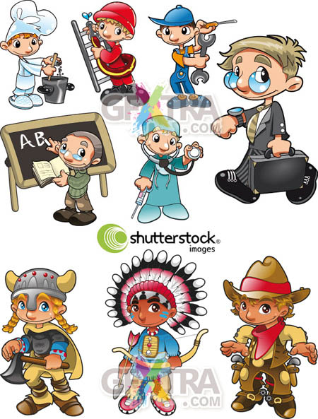 Shutterstock Character Sets in Vector