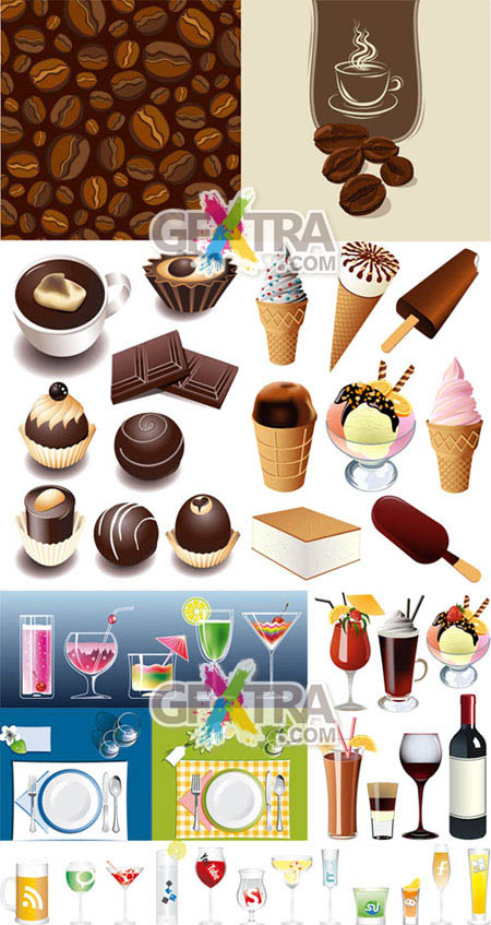 Shutterstock Desserts and Beverages in the Vector