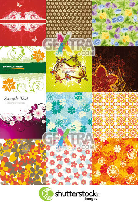 Shutterstock Floral Background (Part 03)