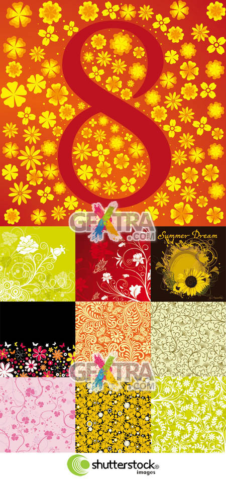 Shutterstock Floral Background (Part 04)