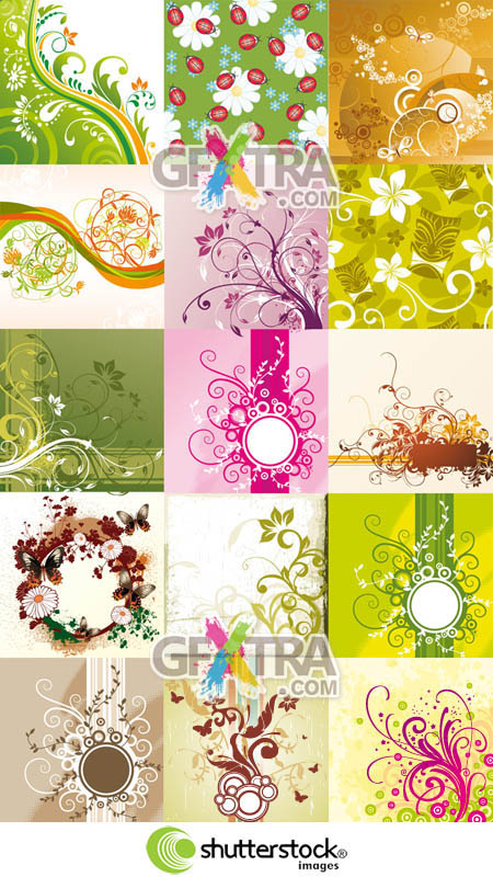 Shutterstock 15 Floral Backgrounds (Part 1)