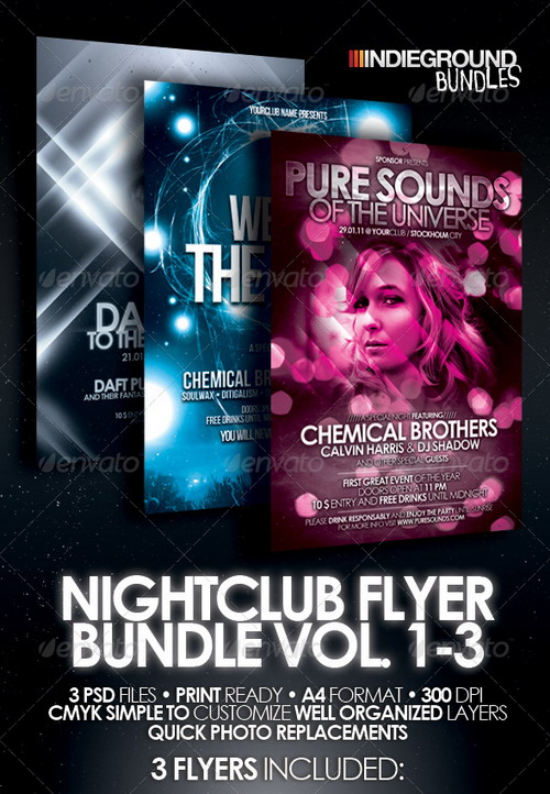 GraphicRiver - Nightclub Flyer Poster Bundle 242082