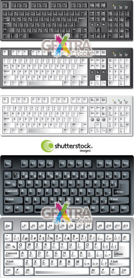 Shutterstock Keyboards in Vector