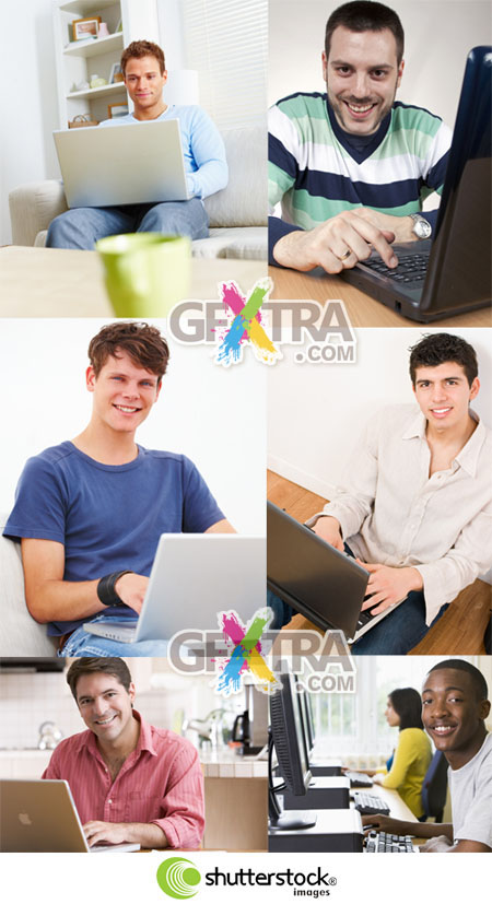 Shutterstock Man with Computer HQ