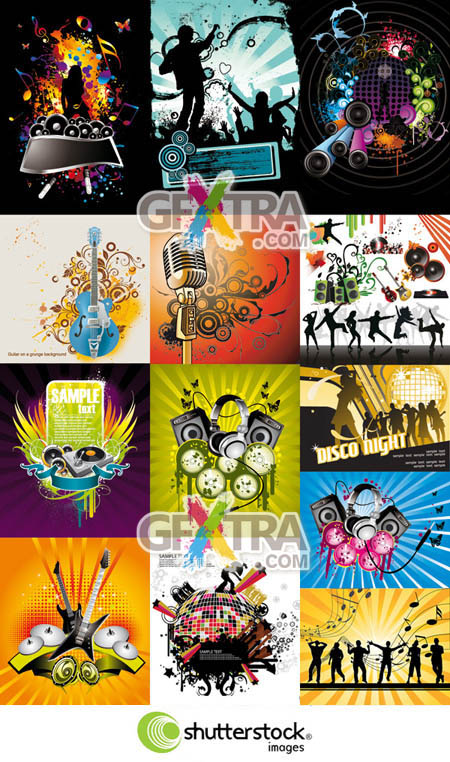 Shutterstock Music Backgrounds in Vector (Part 2)
