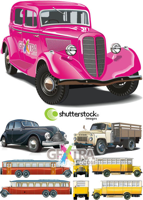 Shutterstock Old Cars in Vector