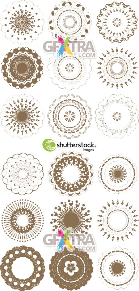Shutterstock Round Graphic Elements Set