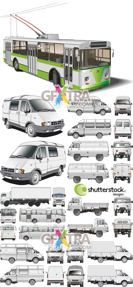 Shutterstock Russian Transport in Vector (Part 1)