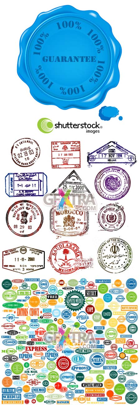 Shutterstock Stamps in Vector (Part 1)