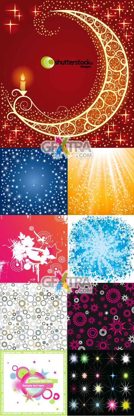 Shutterstock Star Backgrounds in Vector
