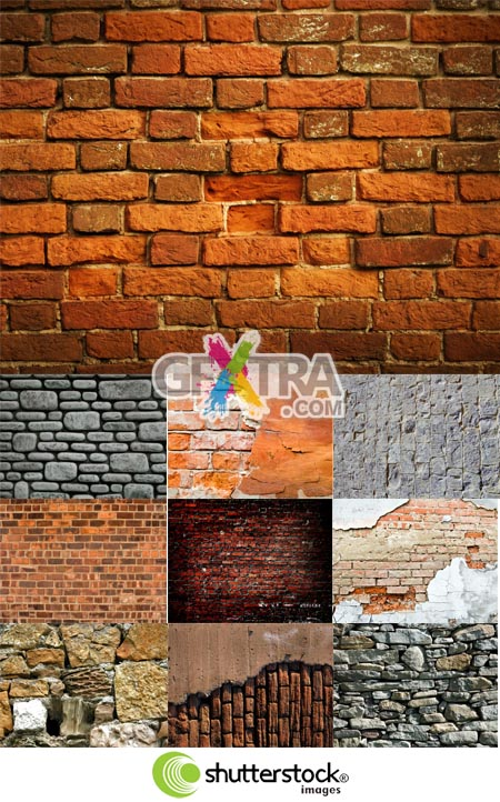 Shutterstock Stone and Brick Walls (Part 1)