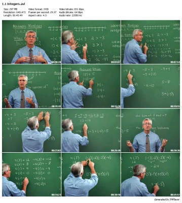 Introductory And Intermediate Algebra Math -DVD Chalkdust