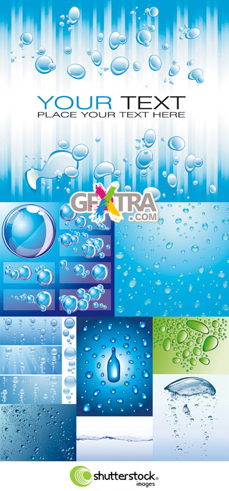 Shutterstock Water Bubbles and Drops in Vector (Part 2)
