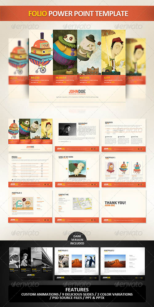 GraphicRiver - Folio PowerPoint Presentation Template