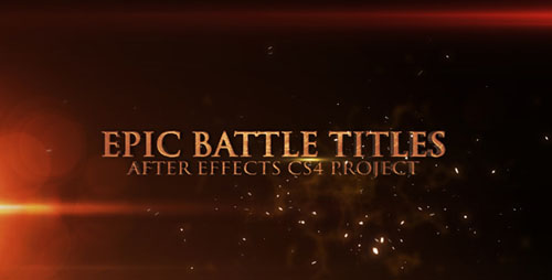Epic Battle Titles - Project for After Effects (Videohive)