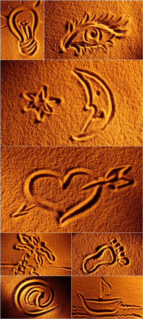 Photo Cliparts - Drawing on sand (Part2)