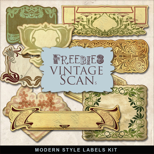 Scrap-kit - Modern Style Labels