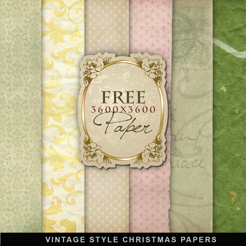 Textures - Vintage Style Christmas Papers