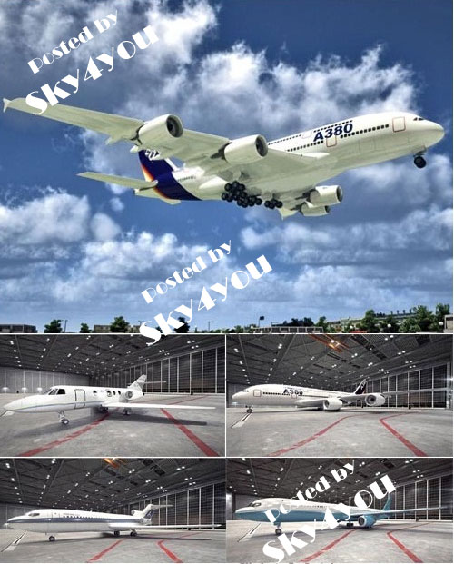 3D Models of Airplanes Airport