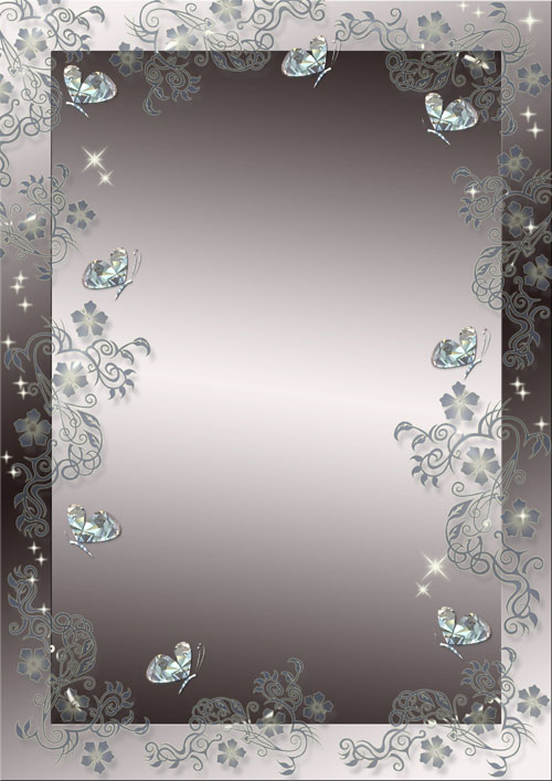 Frame for Photo - Crystal butterfly