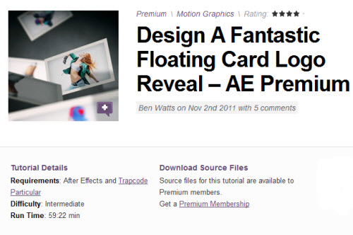 AE Tuts+ Design A Fantastic Floating Card Logo Reveal