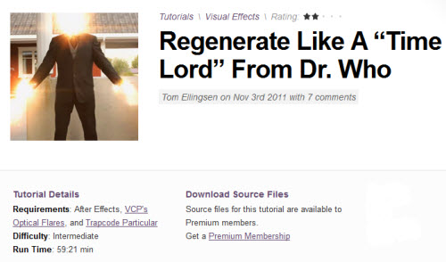 "AE Tuts+ Regenerate Like A ""Time Lord"" From Dr. Who"