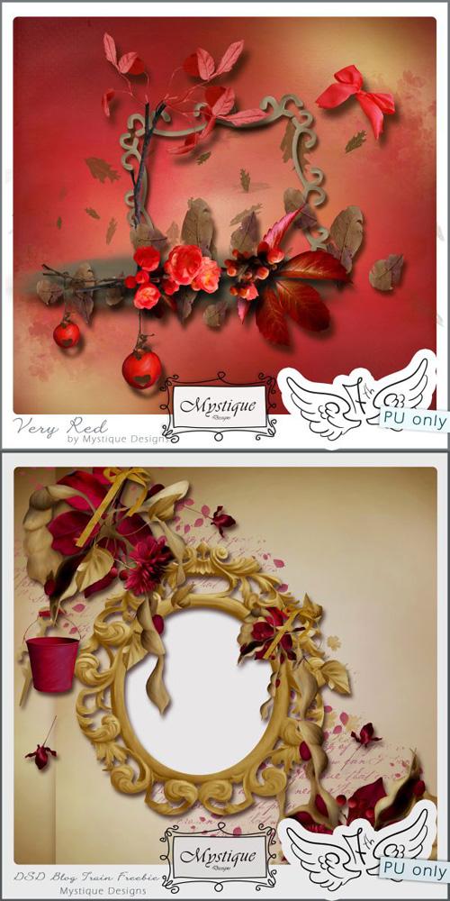 Scrap-set - Mystique - Very Red Kit