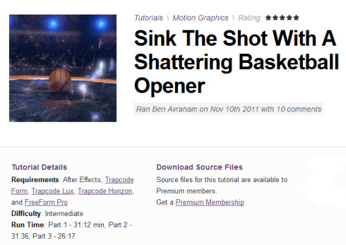AE Tuts+ Sink The Shot With A Shattering Basketball Opener