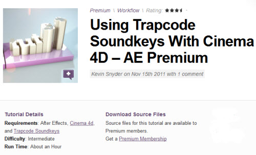 AE Tuts+ Using Trapcode Soundkeys With Cinema 4D – AE Premium