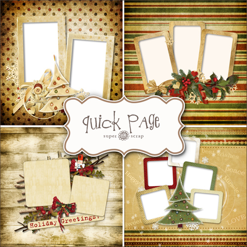 Scrap-kit - 4 Christmas Quick-pages
