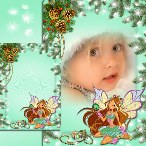 Kid's Photoframe with Flora - Winx Happy New Year